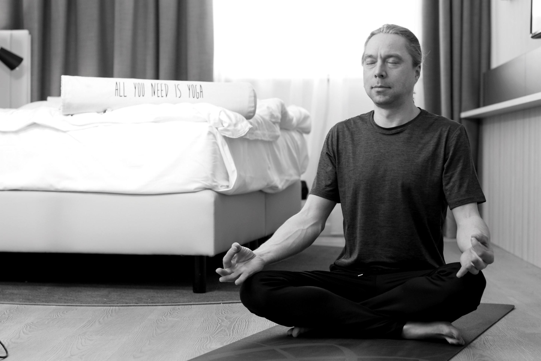 Yoga Praxis bei Tobias